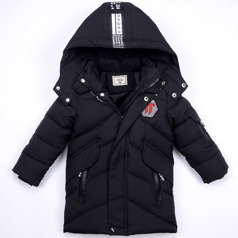 Yijz子供 コート ジャケット アウター 男の子服 綿服 子供服 フード付き ロング丈 キッズ 中綿 暖かい 防寒着 防風