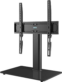 BONTEC Pied TV Universel Support TV pour Télévisions de 26 à 55 Pouces LCD/LED/Plasma Hauteur Réglable avec Base en Verre ...