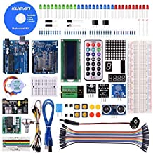 kuman Más Completo y Avanzado de Mega Starter Kit para Arduino R3 con Guías Tutorial Detallada, MEGA2560, Mega328,5V Motor Paso a Paso, Kit para Arduino con Placa K4