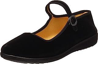 Zapatos Mary Jane de terciopelo de las mujeres Algodón negro Antigua Pekín Pisos de tela Ejercicio de Yoga Zapatos de baile