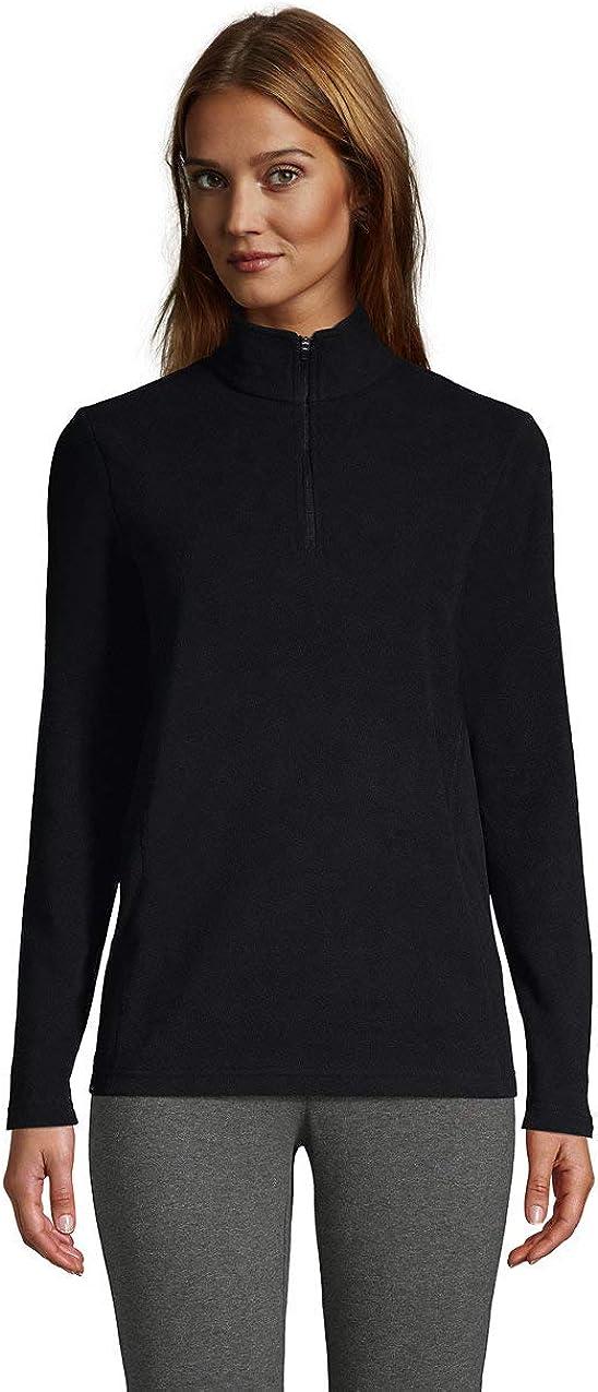 Lands' End Women's Quarter Zip Fleece Pullover Top