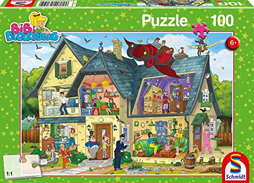 Schmidt Spiele 56151 Bibi Blocksberg, Bei Blocksbergs ist was los, 100 Teile Kinderpuzzle
