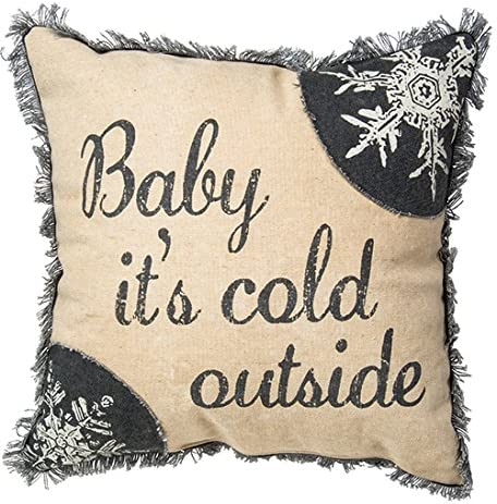 Primitives by Kathy Holiday Baby It's It is very popular Pillow Cold Throw Cotton OFFicial site