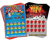 Circus Cash Cannon & Mega Hit - (8 pack) Fake Scratch Off Cards & Lottery Tickets - Every Ticket WINS $75,000 or $50,000 - Shocking Pranks for Adults - Funny Prank Stuff- - Scratch Off and Win Tickets
