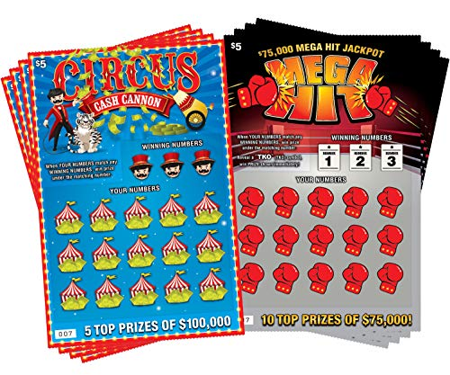 Circus Cash Cannon & Mega Hit - (8 pack) Fake Scratch Off Cards & Lottery Tickets - Every Ticket...