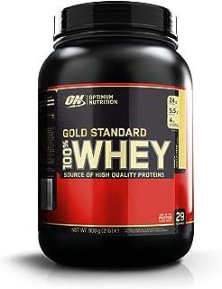 Optimum Nutrition ON Gold Standard 100% Whey Proteína en Polvo Suplementos Deportivos, Glutamina y Aminoacidos, BCAA, Crema de Vainilla Francesa, 29 porciones, 900g, Embalaje puede variar