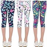 Oyoden Pantalones Leggings para Niñas Chicas Elásticos Medias 2-13 Años Paquete de 3