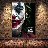 SDFSD Hollywood Joaquin Phoenix Posters Posters Joker Posters Movie Comic Art Canvas Pintura al óleo Cuadros de Pared para Sala de Estar decoración para el hogar 90x135cm