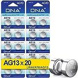 DNA 20 x AG13 Pilas de Botón LR44 A76 357 GP76A SR44W