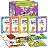 Olefun Sight Words Flash Cards with Characters Scene & Motion & Sentences-220 Educational Flash cards for Age of 4,5,6,7 Years old,Pre K,Preschool, Kindergarten,1st,2nd Grade,Homeschool,Learn to Read.