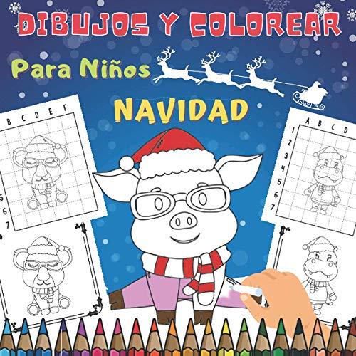 Dibujos y Colorear Navidad Para Niños: Feliz Navidad | Libro para Colorear y Dibujar Navidad Para Niños Pequeños | Cuaderno de Dibujos y Colorear | ... - Regalos de Navidad para sus hijos.