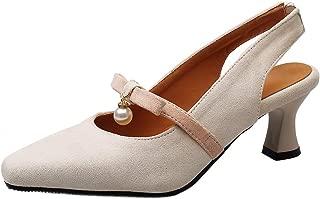 BeiaMina Women Fashion Mid Heel Pumps
