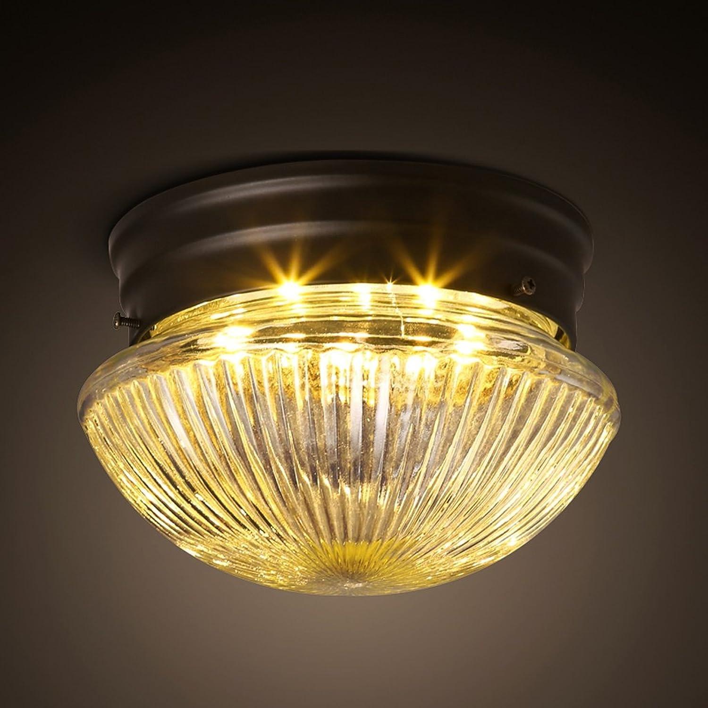 ZXW Eisen Glas kreisfrmige Deckenleuchte Gang Balkon Korridor Schlafzimmer Leuchten Badezimmer Lampen