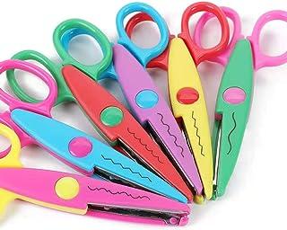 """مجموعه قیچی کاغذ تزئینی Edge-Edge - 5 """"قیچی کاغذی رنگارنگ Edger مناسب برای کودکان ، معلمان ، صنایع دستی ، Scrapbooking ، پروژه های DIY و صنایع دستی کودکان ، مجموعه 6 (5 اینچ)"""