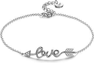ANNA NUCCI Bracelet Femme Argent 925, Bracelet Femme Love, Cadeaux Fete des Meres, Bijoux Femme Bracelet Argent sterling 9...