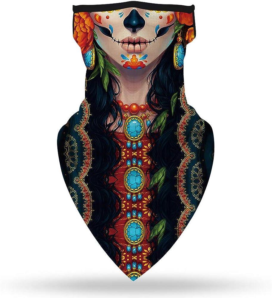 Ashley Seamless Multifunctional Face Mask Bandans Ear Loops Neck Gaiter Balaclava for Men Women Outdoors Sports Festival