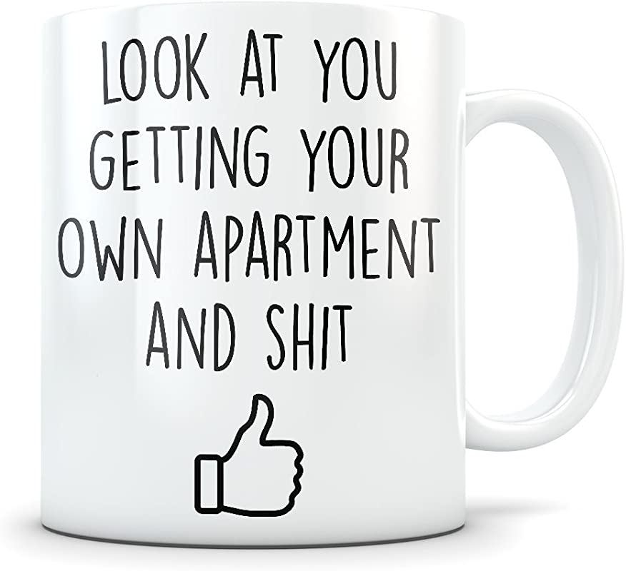 New Apartment Gift For Women And Men Renting Funny Housewarming Mug For First Time Flat Renters House Warming Gag Coffee Cup For Moving In Or Out