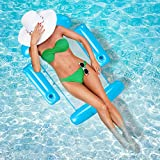 Inflatable Pool Floats Adult, Pool Floats Adult Size Lounger with Cup Holder, Floaties for The Pool, Pool Rafts and Floats for Adults, Pool Lounger Float, Water Hammock Float, Floating Pool Chair