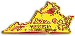Virginia State Map Fridge Magnet
