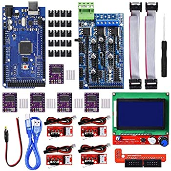 DAOKI 3D Printer CNC Controller Kit with RAMPS 1.5 Board for Arduino DRV8825 Stepper Motor Driver and Heatsink Mechanical Endstop with Cable LCD 12864 Display Module