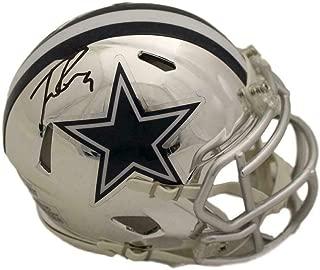 Tony Romo Signed Mini Helmet - Chrome BAS 22479 - Beckett Authentication - Autographed NFL Mini Helmets
