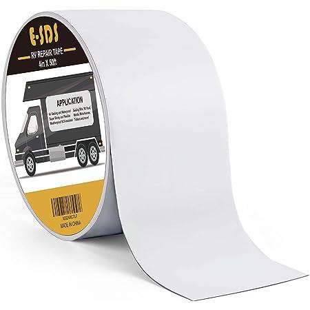 "4/"" x 50/' RV Sealant Tape UV Weatherproof Roof Leaks Repair Seal Sticky White"