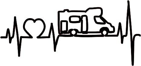 Etiqueta engomada del Coche de la Historieta Etiqueta engomada del veh/ículo de Salto en Forma de coraz/ón de la Caravana Sunflowerany Etiqueta engomada