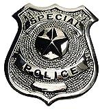 EE.UU Placa de policía, 'Especial Police', plata, Pin de solapa