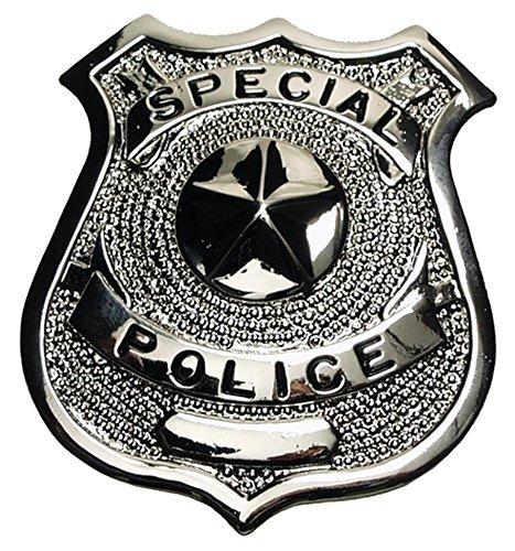"""EE.UU Placa de policía, """"Especial Police"""", plata, Pin de solapa"""