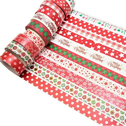 K-LIMIT 5 Set Washi Tape rotoli di nastro adesivo masking tape scrapbooking DIY Natale 8778