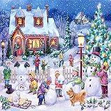 GLLCYL Puzzles 1500 Pièces, Chalet De Noël Puzzle 1000 Pièces pour Adultes Puzzle Adulte, Puzzles en Bois De Haute Qualité - 1500 Pièce