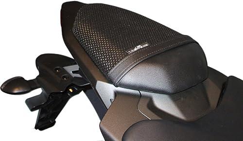 TRIBOSEAT Housse de siège Anti Slip Passenger conçue pour s'adapter à la Couleur Noire Compatible avec Yamaha Mt07 (2...