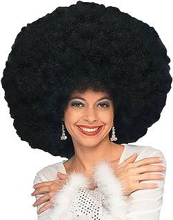 shoperama Peluca rizada afro para hombre o mujer de los años 70 Disco Queen Hippie Clown Fantasy, color: negro