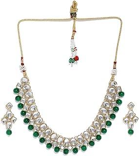Zaveri Pearls Kundan & Pearls Jewellery Set for Women (Golden)(ZPFK8530)