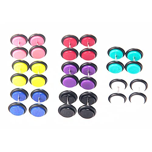 Ear Stretcher Claw And Eyeball Front 16g Surgical Steel Fake Plug