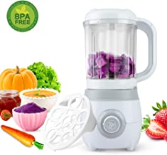 Baby Food Maker for Infants and Toddlers, Eternal Home All-in-1 Food Processor Mills Machine with Defrost, Steaming, Cooking & Blending Function, 600ML, White