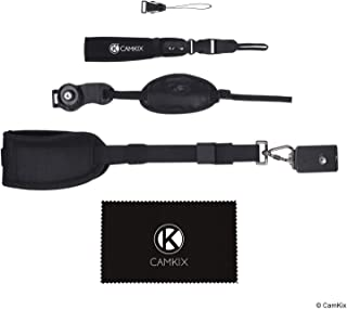 CamKix 3-in-1 Strap Kit for DSLR and Compact Cameras - Hand, Wrist and Neck Strap - Comfortable Padding - Adjustable Fit -...