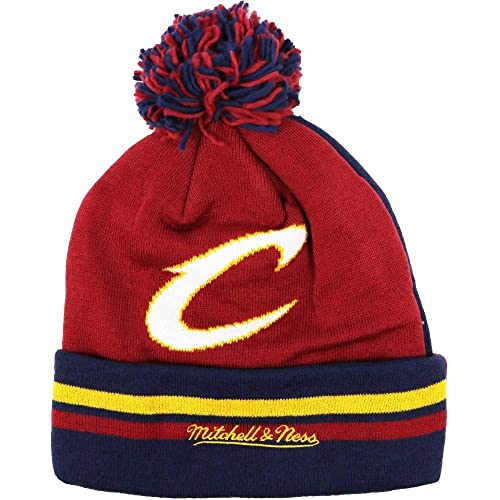 74fafa8d004 Mitchell   Ness NBA Change Up 2 Faced Cuffed Knit with Pom Hat