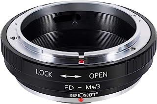 K&F Concept Adaptador de montaje de lentes para Canon FD Lentes a Micro 4/3 Olympus PEN y Panasonic Lumix cámaras como Olympus PEN E-P1 P2 P3 P5 E-PL1 PL1s PL2 PL3 PL5 PL6 E-PM1 PM2 OM-D E-M5 E-M1 Panasonic Lumix DMC-GH1 GH2 GH3 GX7 G1 G2 G3 G5 G6 G10 GF1 GF2 GF3 GF5 GF6 GX1 GM