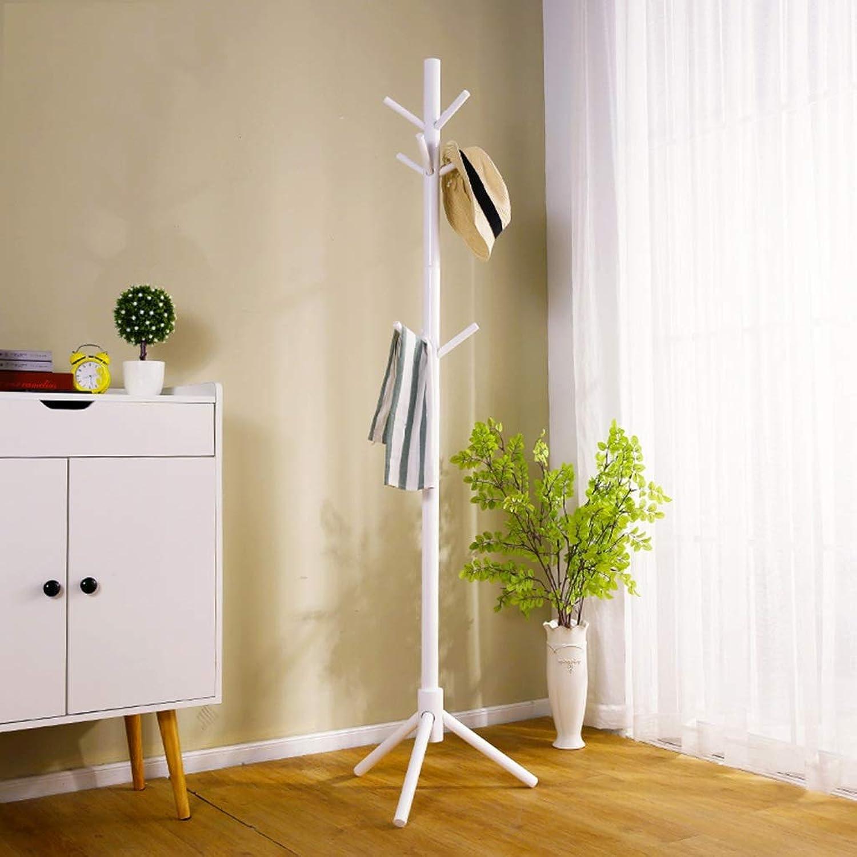Coat Rack-Floor Coat Rack Home Living Room Bedroom Corridor Solid Wood Hanger (color   A)