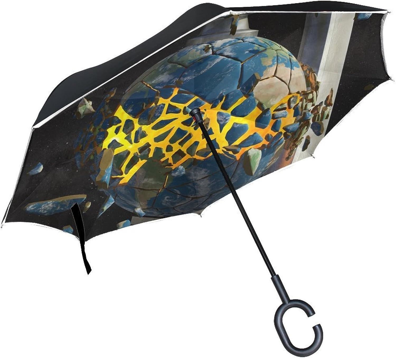 47d176bc096d Rh Studio Umbrella Earth Planet Debris Large Double Outdoor Rain Sun ...