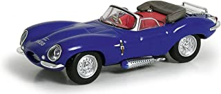 Ricko 38323 HO Jaguar XKSS with Top Down Model Car 1:87 Hobby Train Vehicles, Blue