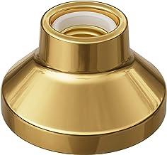 ledscom.de E27 porseleinen lamphouder Elektra, rond, goud, 90mm