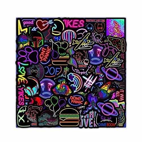 SMEJS xdszs 50PCS Graffiti Adesivi Auto Chitarra Bagagli Valigia FAI DA TE Classico Giocattolo Decal Sticker