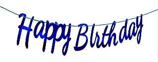 Happy Birthday Banner Navy Blue Big Small Letter Conjoined Birthday Banner Birthday Banner Party Decoration Supplie