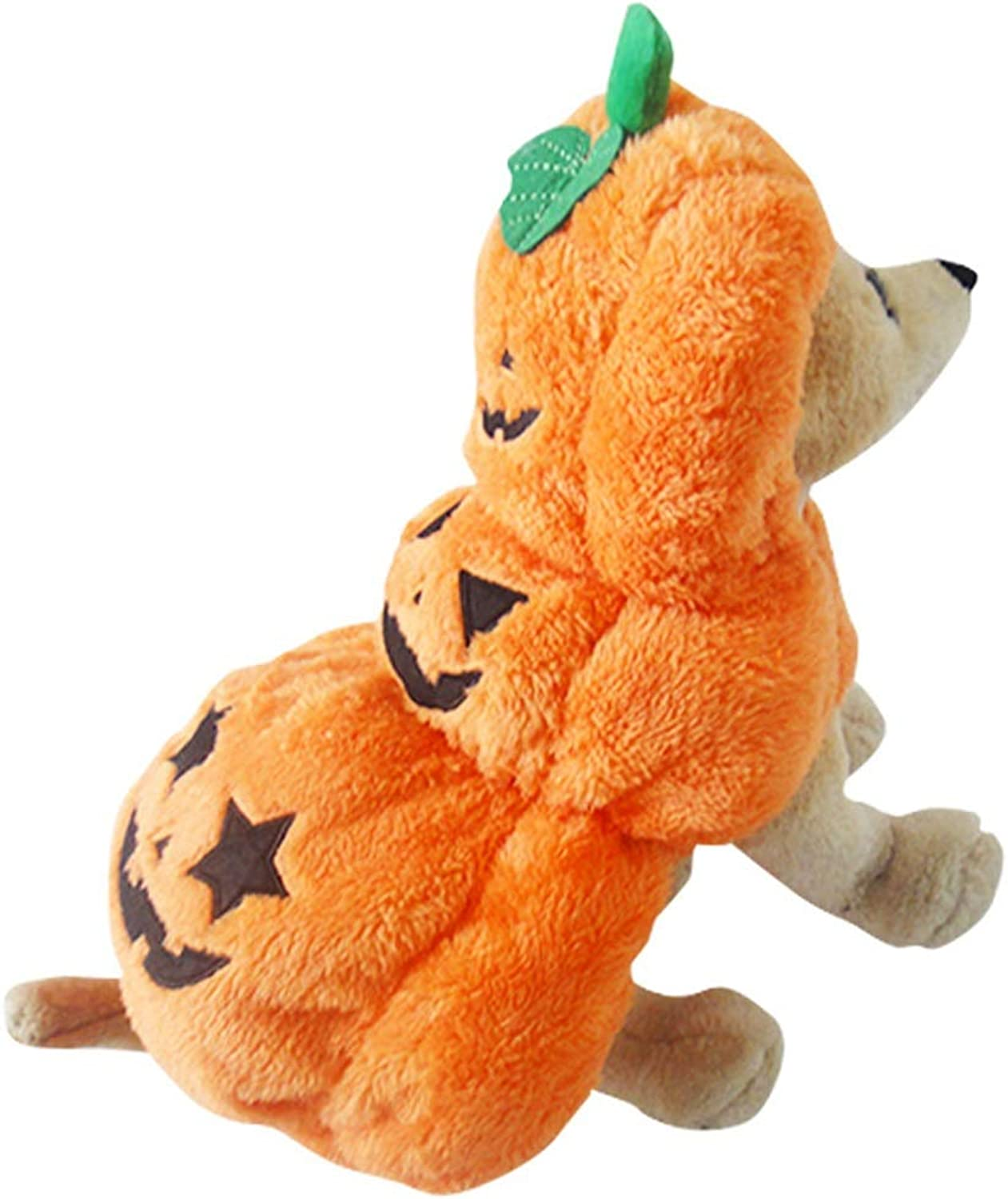 Albabara Pet Dog Cat Clothes Fluffy Pumpkin Halloween Party Fancy Costume Jacket Apparel for Small, Medium Dogs