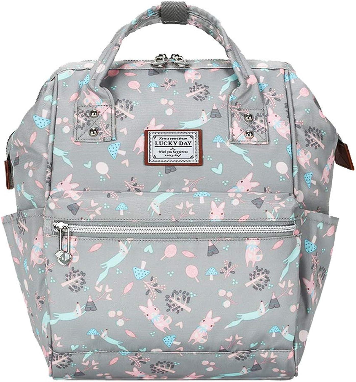 CJH Rucksack Tasche weibliche High School Student Tasche Mode Freizeit Reisetasche Rucksack hellgrau