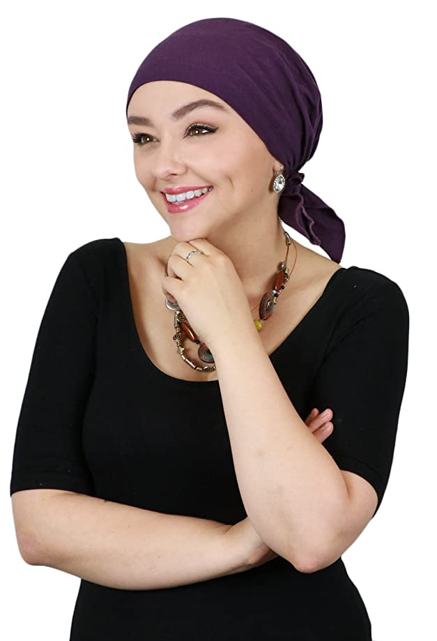 Cancer Headwear for Women Head Scarves Coverings Chemo Scarfs Pretied Cotton Celeste