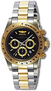 Men's Invicta Speedway Rolex Daytona Style S Series Chronograph Black Dial 9224