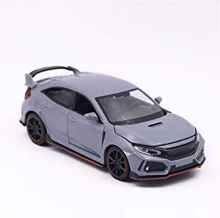 Model Car 1/32 For TYPE R Hatchback Model Toy Vehicle Alloy Die Cast Sound Light Pull Back Sports Car Toys Diecast Vehicle...